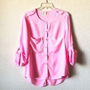 Sam & LaVI Neon Pink Button Up Shirt!